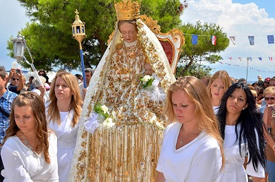 Our Lady of the Snow feast - procession