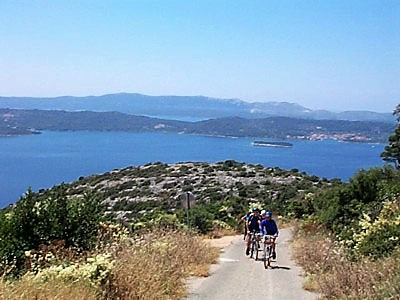 Cycling on island